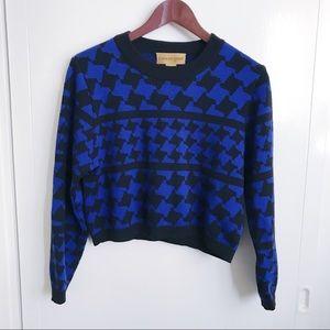 Houndstooth Crop Sweater